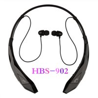 Wholesale Universal HBS902 wireless bluetooth earphones CSR4 HBS stereo headphone HBS sports neckband headset for LG iphone6 Sumsung S5 S6