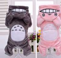 Wholesale DHL Fedex Pet Products Clothing for Dogs Coat Chinchilla Velvet Teddy Dog Clothes Winter Clothing Totoro