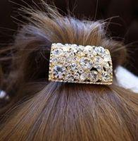 Cheap Ocean store fashoin rhinestone crystal hair accessories hair rope headband( min order $10)F090