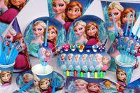 frozen party supplies - 83 Frozen Birthday Party Kit for people decoration supplies favors plates cups straws Frozen Theme Children decoration set