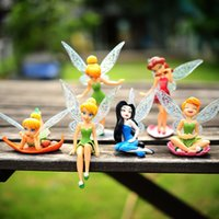 bell war - 6pcs Tinker Bell Fairies Princess Figures PVC Doll Toy Cake Topper ToyTinker Bell Fairies Toy kids toys