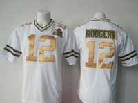 Wholesale Men s Super Bowl Packers Rodgers Limited WHITE stitched Highest Quality Football Jersey Mix Order More Player Free Fast Shipping