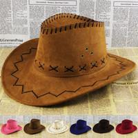 Wholesale 2015 hot selling Women Mans Cowboy Hat Multi Color Hard Cowboy Cap mixed colors tourist caps for travel outdoor performance hat