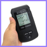 Wholesale Wireless Portable Dot Matrix Fish Finder Sonar Radio Audible fish Depth Alarm m Fishfinder