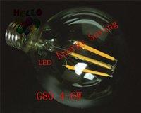 beam global - G80 Antique Retro Edison Lamp LED Filament Bulbs W E27 E26 AC120V V Warm White Cool White Dimmable Beam Angle Global Light