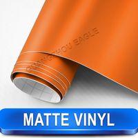 aluminum sheet size - Orange Matt Sticker Vinyl Sheets Car Foil Film Bubble Free Size Meter x Meter
