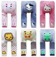 arrival leggings socks - Baby Kids Cotton Tights For Winter Hot Arrival Newborn Girls Cartoon Leggings Children PP Pants Socks Fit Age SS838