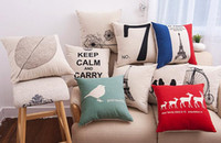 Wholesale 5pcs Hot Design Home Decorative Pillow Covers Room Decors Car Throw Cushion Covers bedding Set cm