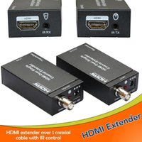 Wholesale Super stability hdmi extender with ir HDMI Extender Over single m ft Coaxial Cables sockets hdmi extender m