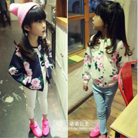 baseball jacket girls - Space Girls Spring and Autumn the Traditional Printing Children Cotton Casual Jacket Baseball Jacket