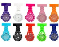 Wholesale Fashion Cheap Colorful Rubberized Plastic Nurse pocket Watch fob watch