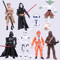 Wholesale NEW hot cm set Star Wars The Force Awakens bb Yoda Darth Vader action figure toys Christmas gift