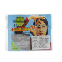 Wholesale Hot Sale Eyebrow Guide Template Eyebrow Stencil Makeup Tool PVC Tattoo Stencil