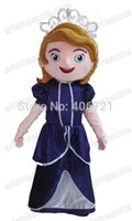 Mascot Costumes Free Size People AM0088 Princess Sofia mascot costume cartoon character costume fancy dress adult fancy dress fur mascot free shipping