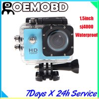 Wholesale SJ4000 action camera Waterproof Sport DV HD Camera Car DVR Camcorder Gopro Style P fps MP H Inch LCD Free DHL Shipping