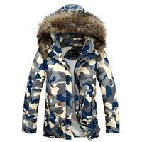 Wholesale Hot Sale New Arrival Camouflage Down Jackets Fashion Men s Camo Sports Snow Winter Coats Mens Coat M XXXL Hood Parkas Warmer Outerwear