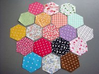 Wholesale Cloth Piecing Handmade DIY Patchwork Fabric Beautiful Neadend Cotton Fabric Hexagonal Cloth Side CM