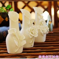 Wholesale European retro mini vase zakka Korea ceramic vase ornaments home decorations creative flower holder