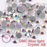 Wholesale Chaton Strass - Bue Light DMC Hotfix Rhinestones Crystal AB SS6-SS50 Machine Cut Flatback Strass Chaton Stone For Clothes Crafts Decorations