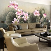 beautiful homes interiors - Lotus Flower Bird Wallpaper Beautiful D Photo wallpaper Custom Wall Murals Art Painting Interior Bedroom Coffee shop Home Office Room decor