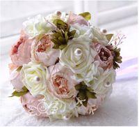 Wholesale Vintage Pristian Zouboutin Artificial Bridal Flower Wedding Bouquet Flowers Bridal Brooch Bouquet Bridesmaid Flower Bouquet