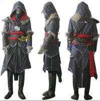 Wholesale High Quality Assassin s Creed Revelation Ezio Thick Denim Cosplay Halloween Men Costume adult Halloween costumes