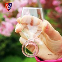Wholesale Promotions Creative Small Wine Glass Cup Shot Glass Crystal Ring Cup Glass Jar Cup Glas Crafts Wedding Gift
