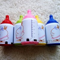 Wholesale MP3 Players Mini Feeding bottle Milk Shape MP3 Player with Cartoon Pic Support Micro SD TF Card Portable Cute
