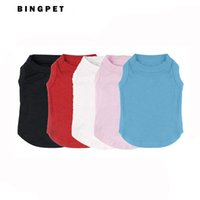 Wholesale Dog T shirt Pet Cat Tank Top Tee Without Sleeves for Puppy Doggie Summer Clothes