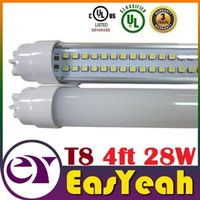 Wholesale 28W ft mm T8 Led Tubes Lights Double Rows m Led Fluorescent Tubes Light SMD AC V