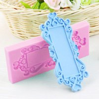 Wholesale 3D Mirror Frame DIY Silicone Fondant Mould Cake Decorating Baking Mold Candy
