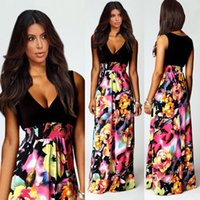 Cheap 2015 Sexy Women Holiday Summer Boho Long Maxi Evening Party Dress Beach Dresses