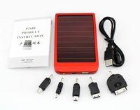Wholesale 10pcs MAH solar panel portable Mobile solar battery Charger Universal Solar sells Power bank for Smart Phone IPOD Ipad