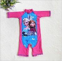 Cheap 2015 AAA+ quality hotsale frozen 3 color 5 size kid boy girl unisex summer print swim suit one-piece beach spring swimwear TOPB1790 10PCS