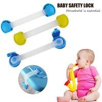 Wholesale 10pcs cm Baby Child Kids Drawer Cabinet Lock Safety Lock Blue Yellow