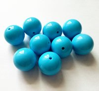 big chunky turquoise necklace - Turquoise blue Color MM Big Chunky Gumball Bubblegum Acrylic Solid Beads Chunky Beads for Necklace