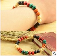 wooden bangles - SL132 new fashion Wood color small wooden beads lap unisex prayer beads bracelet jewelry