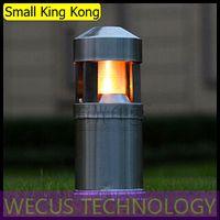 Al por mayor (WECUS) envío libre, nuevas luces al aire libre, lámpara de césped, color acero inoxidable moderno y sencillo, sin fuente, XJ-HWD0039