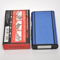 aluminum edge banding - Smoking Accessories Aluminum Cigarette Case Holder Box For Cigarettes Blue