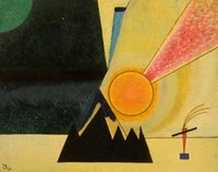 Oil Painting arts development - Oil painting abstract Development Wassily Kandinsky Canvas Art Reproduction High quality Hand painted