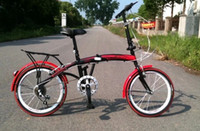 Wholesale Mini bike Folding bicycle Folding speed bike variable speed folding With shelves fender Colored tires iron High grade