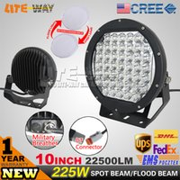 Cheap 9-32v 225w Round Cree Led Drivin Best L1010G-BLACK 12 Months Led Off Road Light For At
