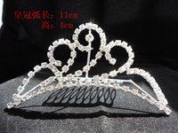 Cheap 2015 Hair Accessories Shining Wedding Bridal Crystal Veil Tiara Crown Headband Crown