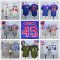 authentic uniforms - Jake Arrieta Jersey Home Away White Grey Blue Authentic Cool Base Chicago Cubs Uniforms
