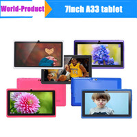 Wholesale 7inch A33 Q88 Quad core Tablet pc AllWinner A33 Android tablet pc GB MB Dual camera Wifi OTG Google play store External G