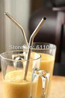 Wholesale Stainless Steel Straw bend drinking straw beer and fruit juice straw FEDEX