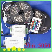 Cheap DIY Waterproof 20M RGB LED Strip 24Key IR Controller 30A Adapter 5050 RGB LED Strip Light Set