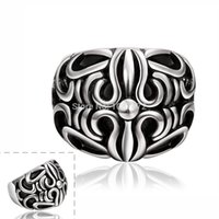 Wholesale 2015 High Quality Retro Punk Rings L Titanium Steel Rings For Men Boys Fashion Jewelry Vintage Skull Stainless steel Metal