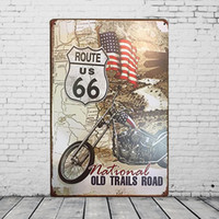 advertising road signs - quot OLD TRAILS ROAD ROUTE US quot Advertising Tin Plaques X30CM Metal Plate Vintage Tin Signs Bar Club Garage Gallery Home Wall Decor Poster
