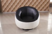 Wholesale Sofa Chair Creative and original design bean bag sofa Genuine leather round single sofa Chiar